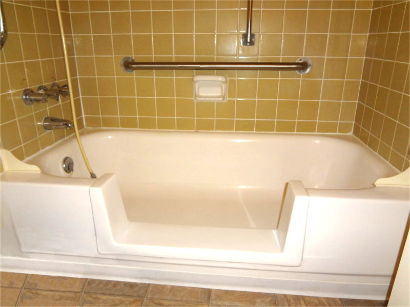 bathtub converted to walk in tub