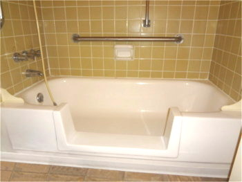bath crest of colorado bathtub cutout conversion to a walk in